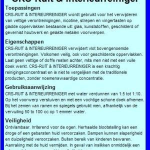 CRS - Ruit & Interieurreiniger 1 l