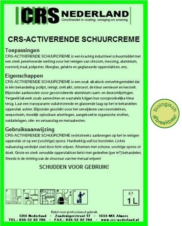 Activerende schuurcreme - CRS