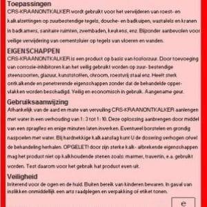 Kraanontkalker – CRS