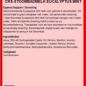 Stoombadmelk Eucalyptus/mint 5l